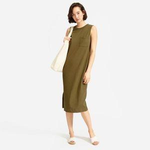 ISO Everlane Long Weekend Tee Dress in Fatigue
